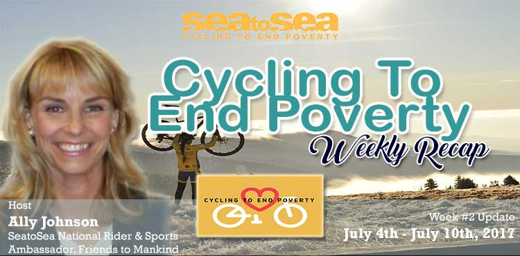 SeatoSea Cycling To End Poverty - Week # 2 Recap - Friends To Mankind Blog Cover