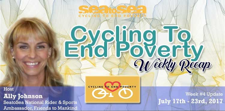 SeaToSea Cycling To End Poverty - Week #4 Recap With Ally Johnson Blog Cover